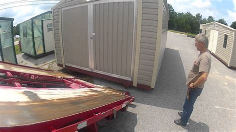 How To Move A Shed Onto A Trailer by Shed Moving Trailer Quot Moving A 12x24 At Handihouse Of Oak