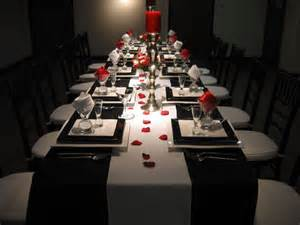 Black And Red Table Settings - black white and red table setting 5 my 40th birthday pinterest