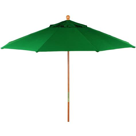 Canvas Patio Umbrellas Oxford Garden 9 Ft Octagon Wood Patio Umbrella With Pulley Canvas Green Ultimate Patio