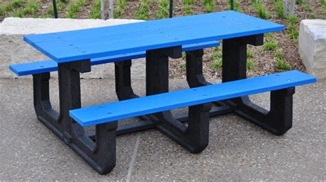 heavy duty plastic picnic tables park place heavy duty walk thru picnic tables belson