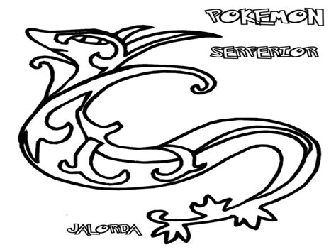 pokemon coloring pages pignite black and white coloring sheets serperior pages pokemon
