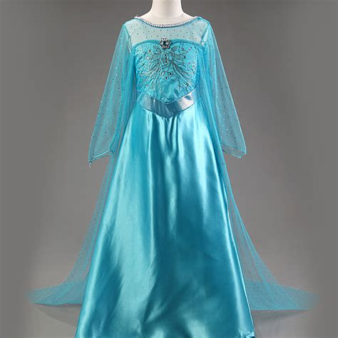 Dress Elsa New T1310 new elsa dress sleeve costume snow white dress clothes vestidos