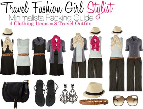 minimalista travel packing how to mix and match 4 clothes