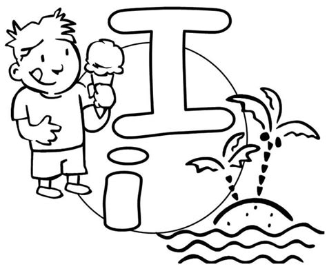 printable letters letters for coloring i letter i crafts to do with kids