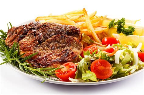 Wallpaper French fries Food Vegetables Meat products White