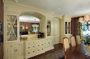 Built In Cabinets In Dining Room Country