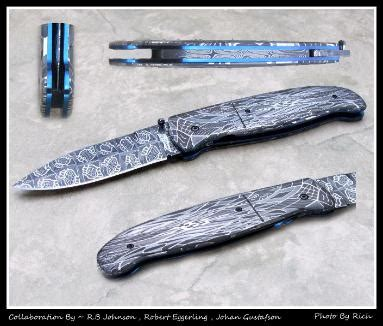 by artist r m custom knives page title