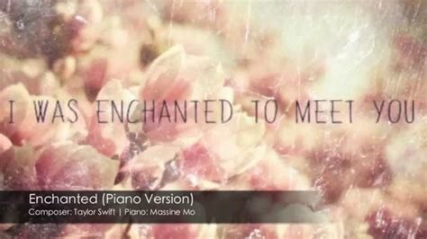 taylor swift enchanted piano taylor swift enchanted piano cover by massine mo youtube