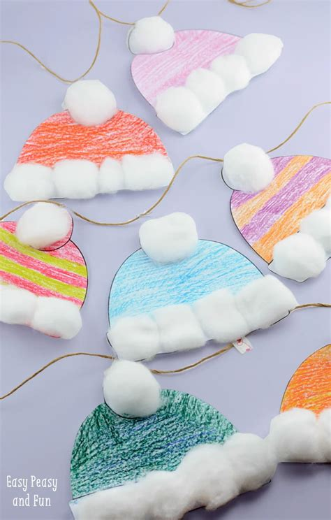 easy crafts winter hats craft for classroom craft