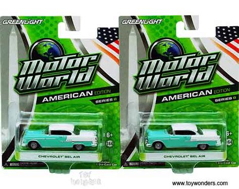 Greenlight Motor World Csite 1955 chevy belair top motor world series 8 96080c 1 6 scale greenlight wholesale diecast