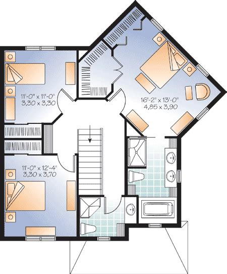 interesting house plans interesting angled home plan 21953dr 2nd floor master suite cad available canadian metric
