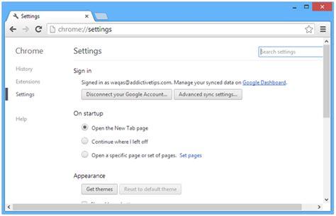chrome settings how to reset google chrome to default settings