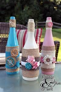 Hometalk wine bottle projects denyse glitter glue and paint s