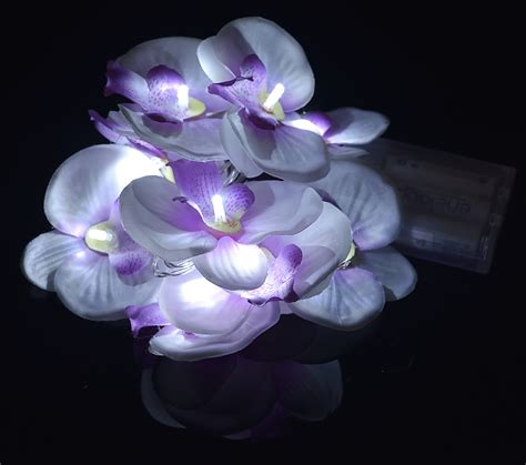 Blowout White Orchid String Light Orchid String Lights