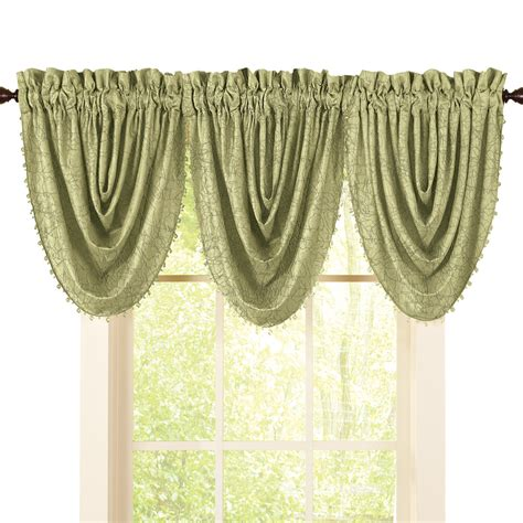 beaded valance curtains crushed taffeta beaded window valance ebay