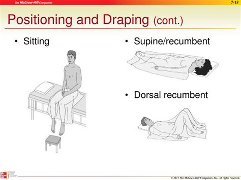 positioning and draping ppt assisting with a general physical examination