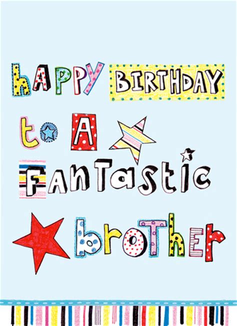 printable birthday cards for a brother happy birthday to a fantastic brother beautiful greeting card