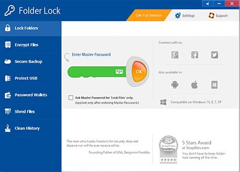how to lock themes in windows 7 folder lock free download and software reviews cnet