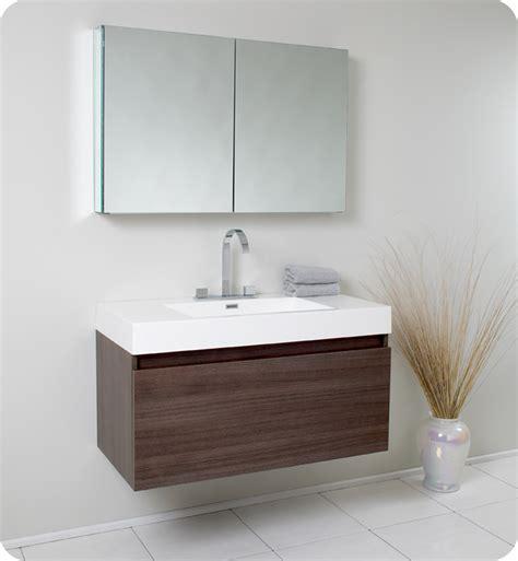 fresca mezzo gray oak modern bathroom vanity