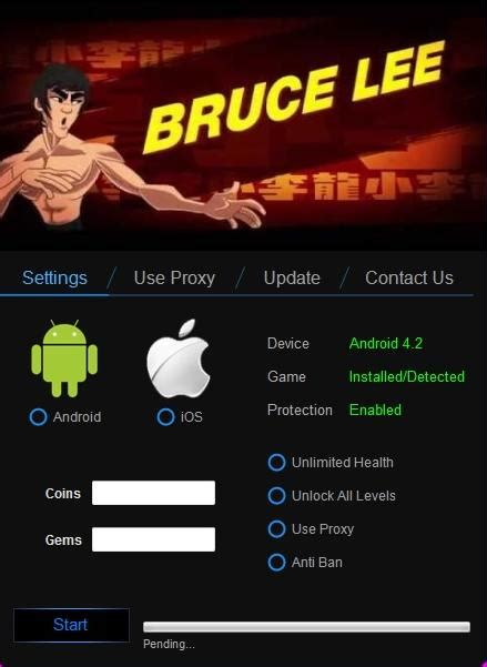 bruce lee android game mod apk bruce lee enter the game cheat and hack tool