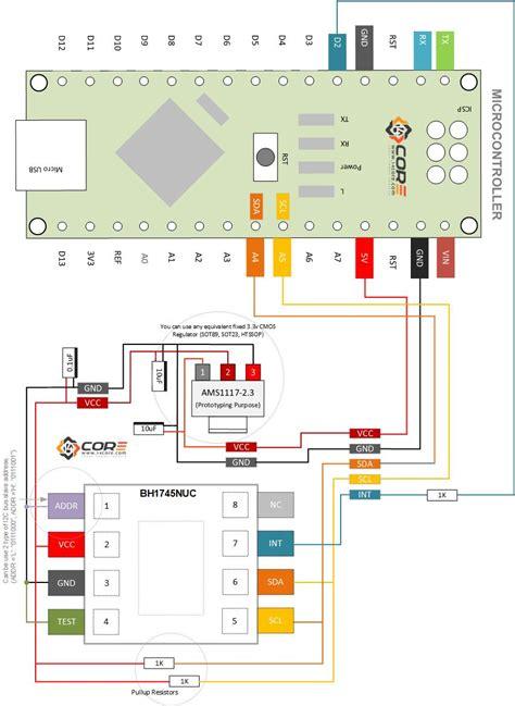 16 bit color sensing color with bh1745nuc 16bit color sensor 14core