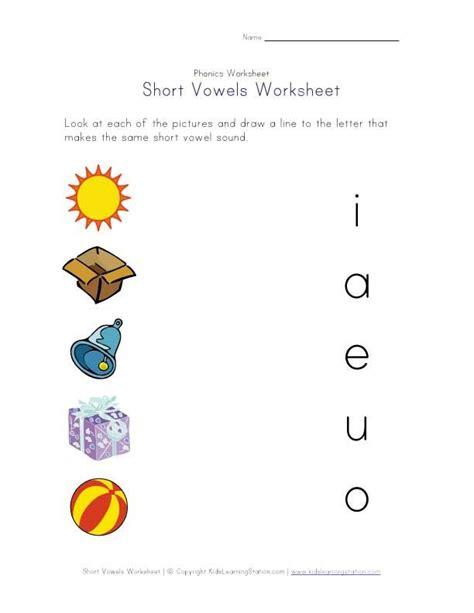 Vowel Sounds Worksheets For Kindergarten by Vowel Worksheets Crafts