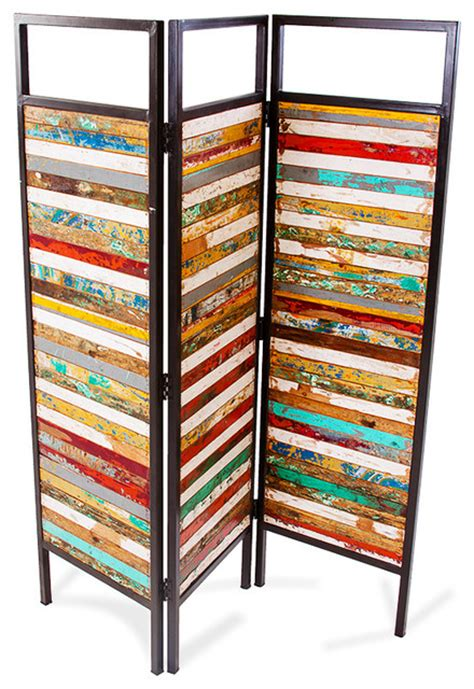 Reclaimed Wood Room Divider Sea Reclaimed Wood Room Divider Contemporary Screens And Room Dividers By Ecochic