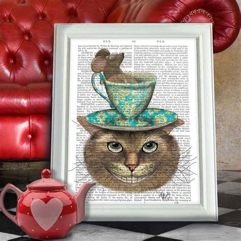 alice and wonderland home decor cheshire cat alice in wonderland print by fabfunky home