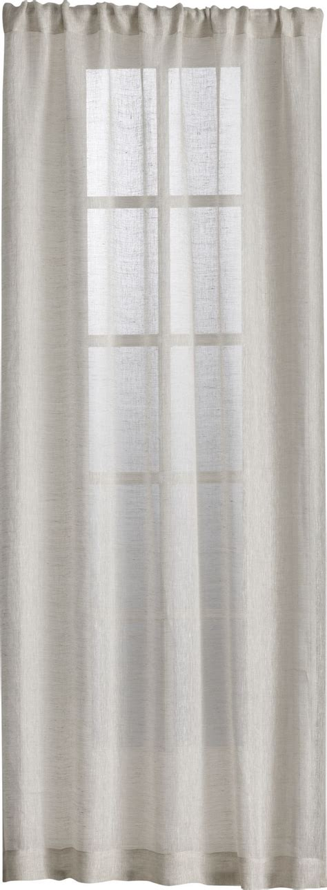 Sheer Linen Drapery Panels linen sheer curtain panels