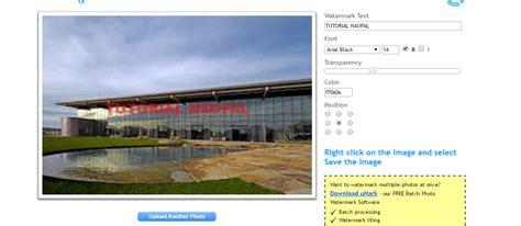 aplikasi membuat watermark cara membuat watermark secara online tutorial naufal