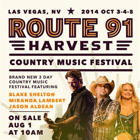 country music festival jacksonville 2014 lineup inaugural route 91 harvest country music festival to take