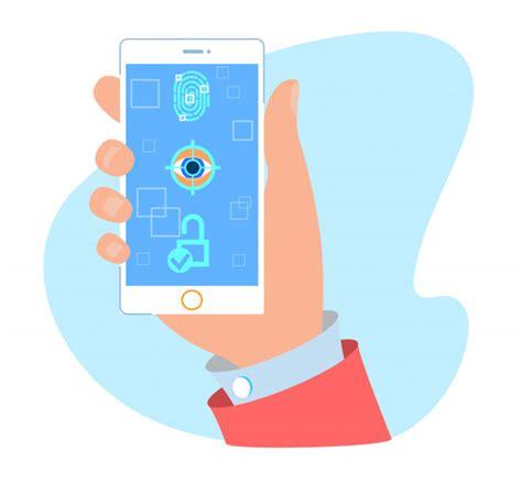 password fingerprint  face unlock mobile app premium