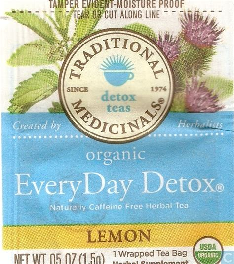 Traditional Medicinals Teas Organic Lemon Everyday Detox by Organic Everyday Detox 174 Lemon Traditional Medicinals