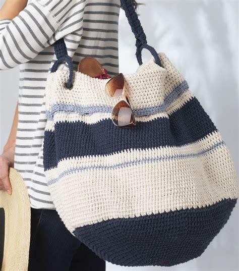 bag pattern free pinterest nautical hobo bag free crochet pattern joann