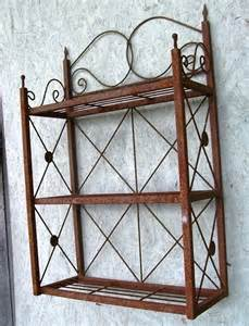 wrought iron 3 tiered wall shelf bathroom