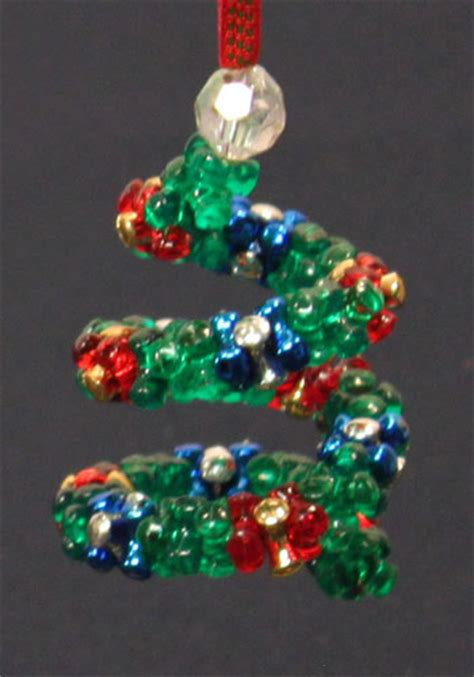 funezcrafts easy christmas crafts spiral beaded