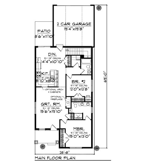 home design for 1250 sq ft bungalow style house plan 2 beds 2 baths 1250 sq ft plan