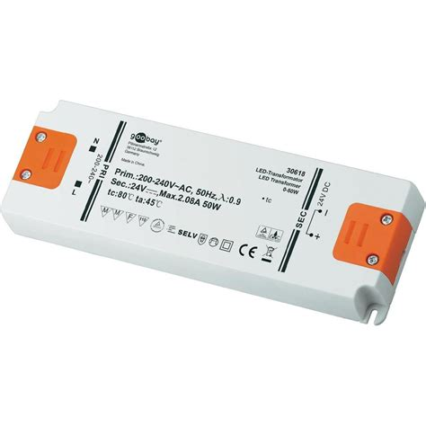 led treiber goobay led treiber led transformator dc betrieb 24 volt 0