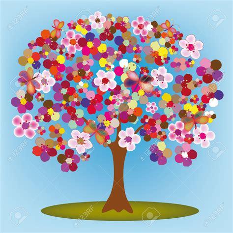 imagenes de flores y mariposas animadas 193 rbol floreciente de dibujos animados con flores y