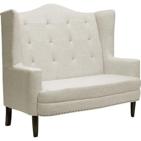 beige bench kerrigan linen settee bench beige dcg stores