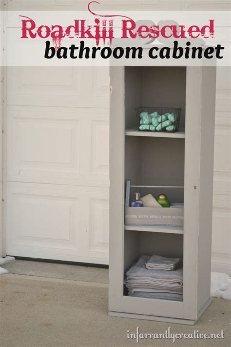 how to build a bathroom cabinet how to make a bathroom cabinet roadkill rescue
