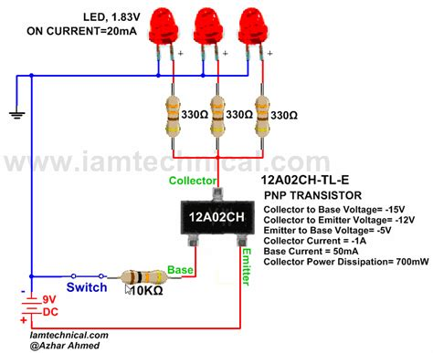 bipolar transistor guitar pnp bipolar junction transistor 12a02ch tl e as a switch iamtechnical