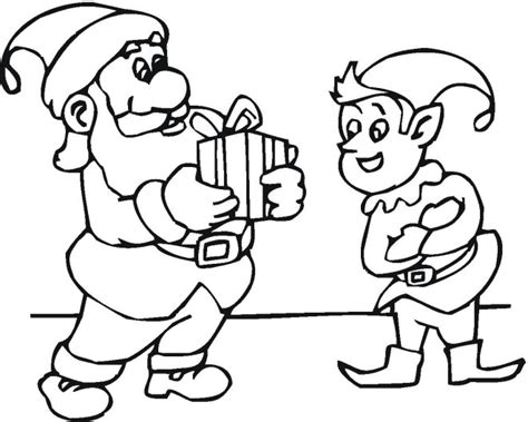 coloring pages of elves and santa free coloring pages of santa elf