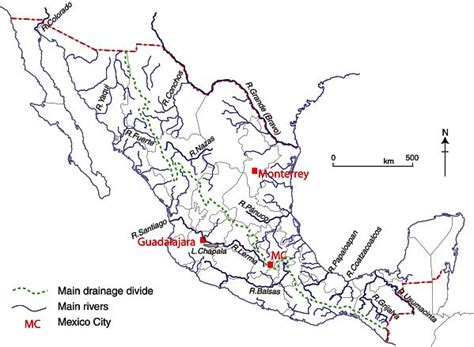 map of rivers in mexico mexico s rivers geo mexico the geography of mexico