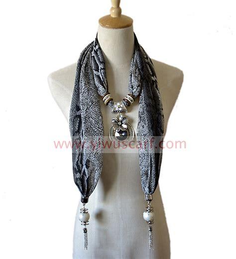pendant necklace scarf pendant scarf necklace