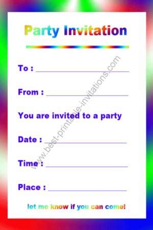 how to make birthday invitation cards at home free printable birthday invitation