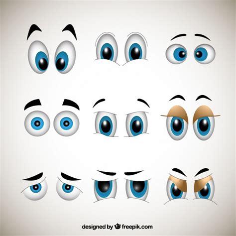 imagenes de ojos felices dibujos animados ojos descargar vectores gratis