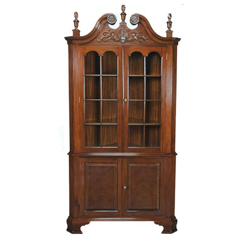 Corner Cabinet Furniture Dining Room Carved Corner Cabinet Niagara Furniture Mahogany Dining Room