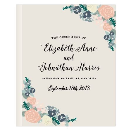 Wedding Guest Book Design by Wedding Guest Books Instantly Preview Your Design