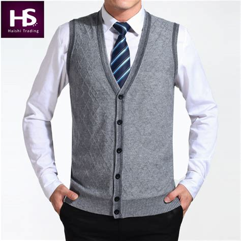 2015 new arrival autumn clothing sweater cardigan vests wool vest knitted mens